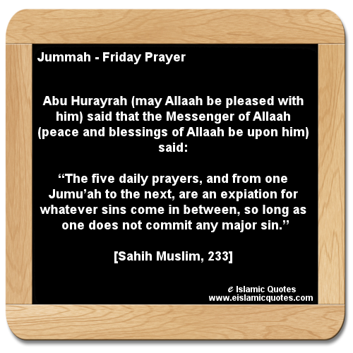 hadith on jummah, Islamic quotes