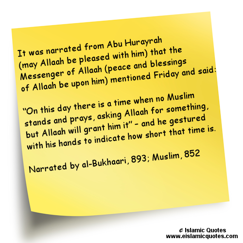 Islamic quotes on Jummah Friday