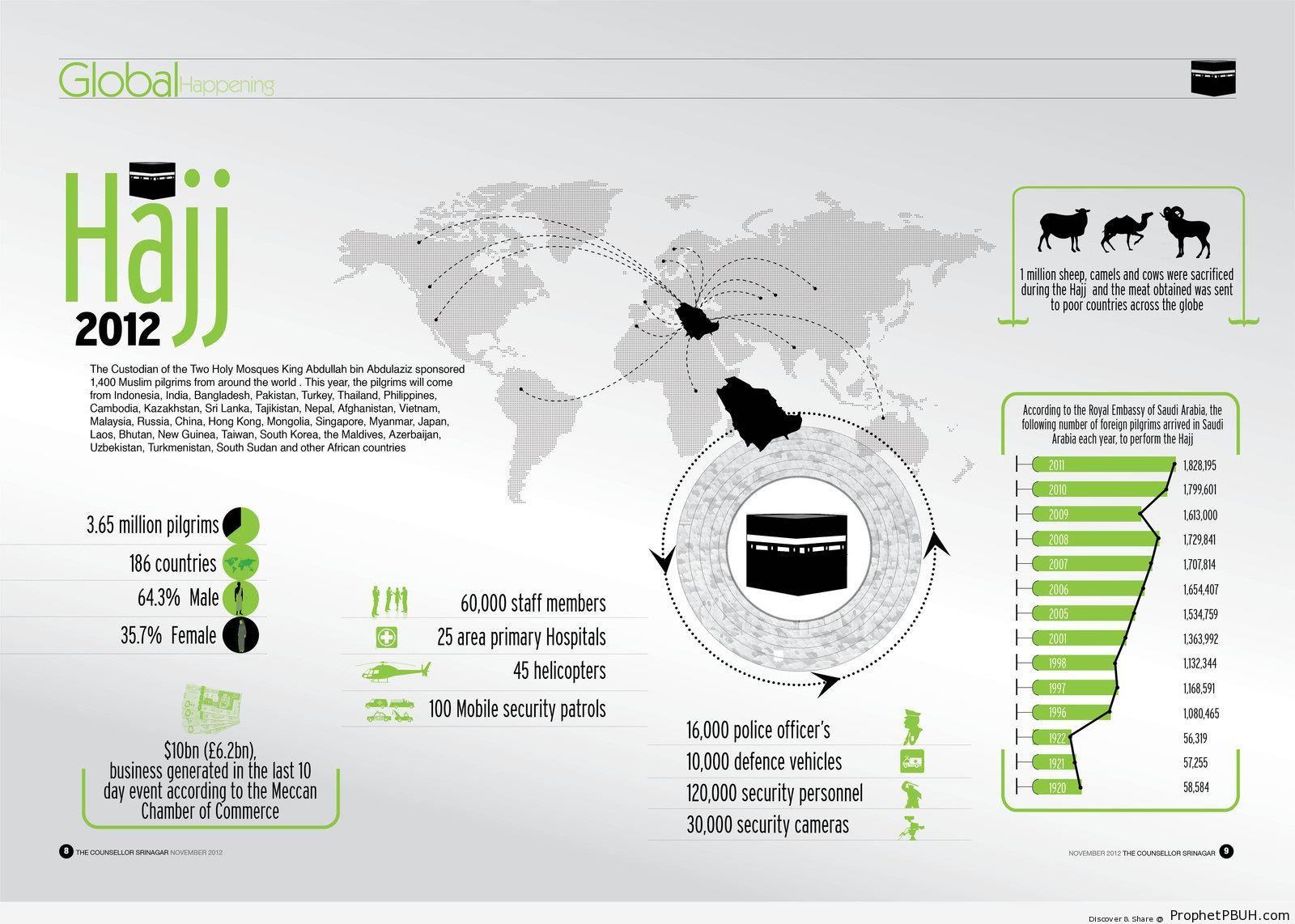 2012 Haj Statistics Infographic - Islamic Infographics and Diagrams
