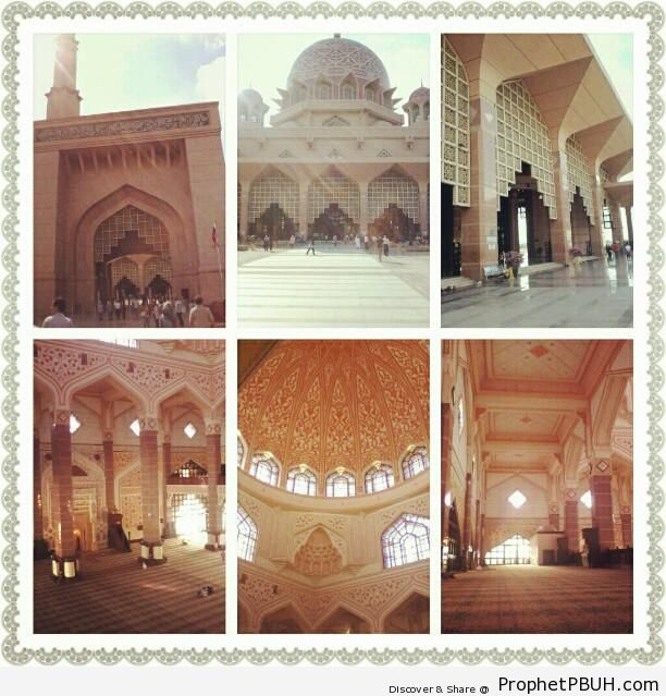 6-Photo Collage of Masjid Putra - Islamic Architecture