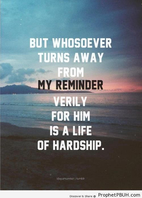 A Life of Hardship (Quran 20-124 - Surat Taha) - Photos