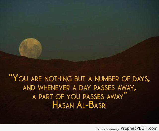 A number of days - al-Hasan al-Basri Quotes