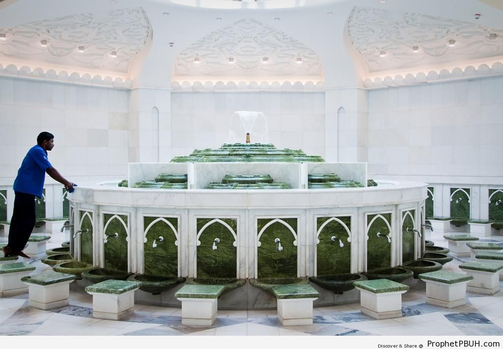Ablution Room at Sheikh Zayed Grand Mosque, Abu Dhabi - Abu Dhabi, United Arab Emirates -Picture