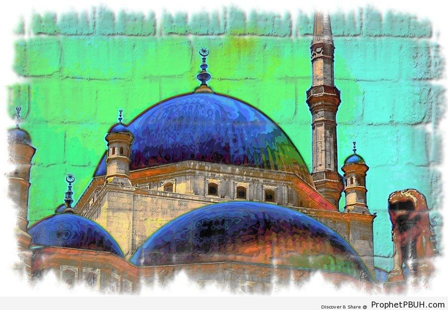 Alabaster Mosque Painting (Cairo, Egypt) - Drawings