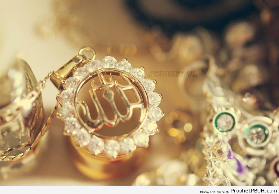 Allah- Design on Jewelry - Photos -