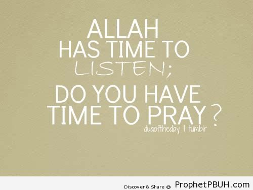 Allah has time - Islamic Quotes About Allah