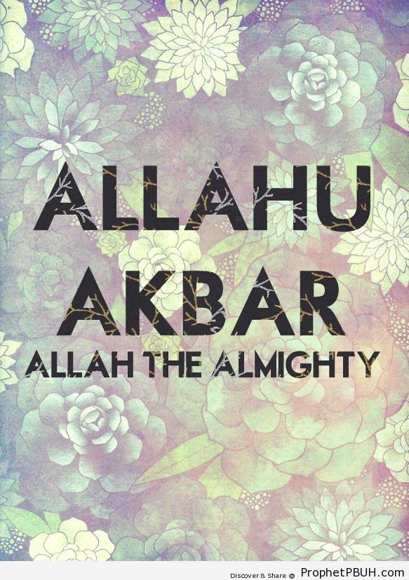 Allahu Akbar Typography Poster - Allahu Akbar English Typography