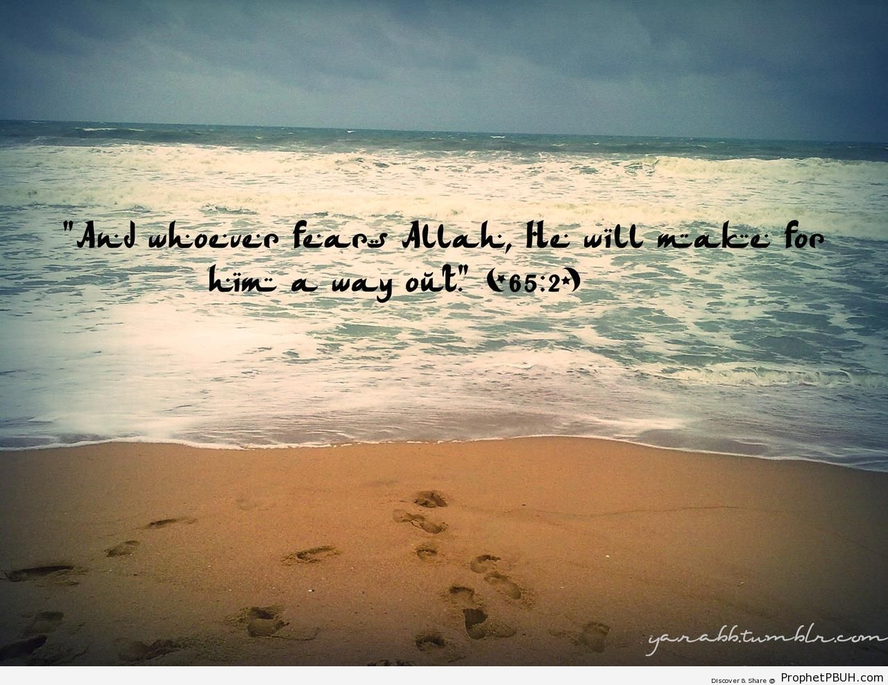 And Whoever Fears Allah (Quran 65-2; Surat at-Talaq) - Photos of Beaches