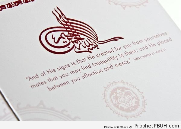 And of His Signs (Surat ar-Rum 30-21) - Islamic Quotes