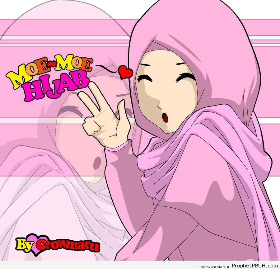 Peace Sign Anime Anime Girl Making v Sign