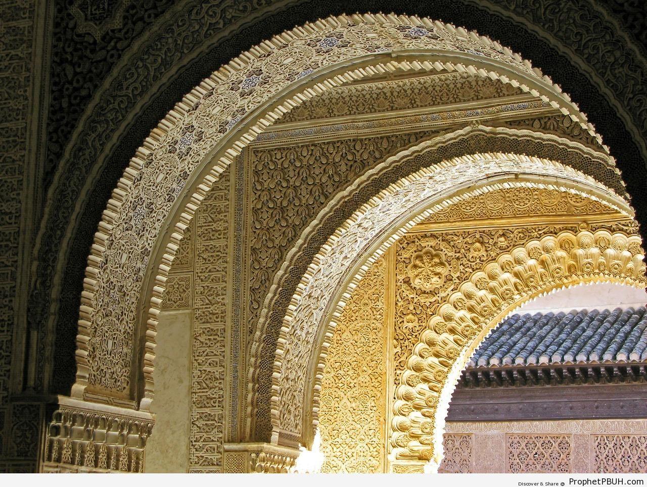 Arches at Alhambra (Granada, Andalusia) - Alhambra Complex in Granada, Spain -