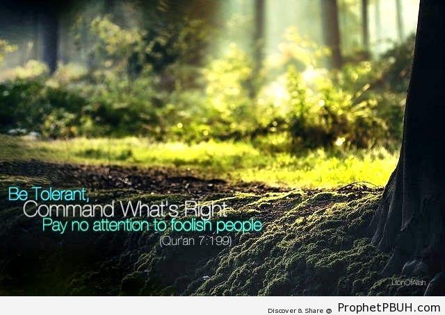 Be Tolerant (Quran 7-199) - Photos