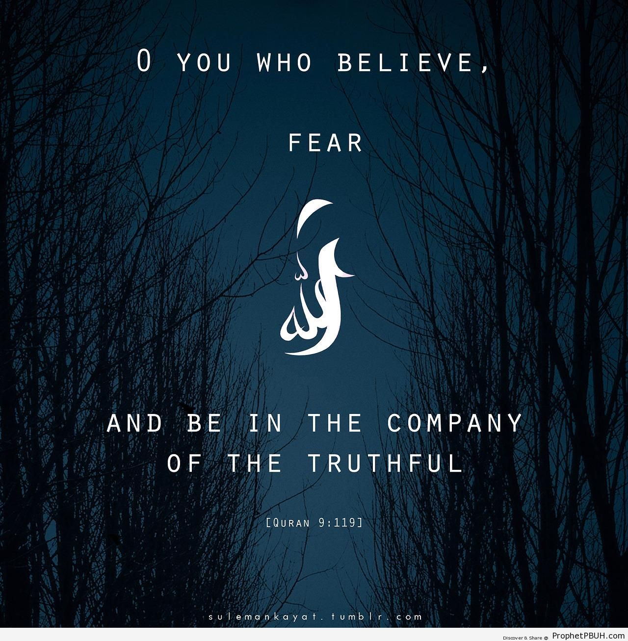Be in the Company of the Truthful - Quran 9-119