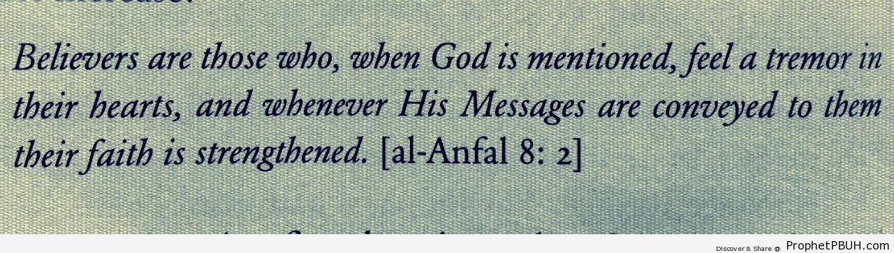 Believers (Quran 8-2) - Quran 8-2