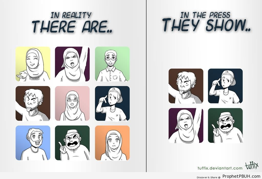 Biased Against Muslims (Poster) - Drawings