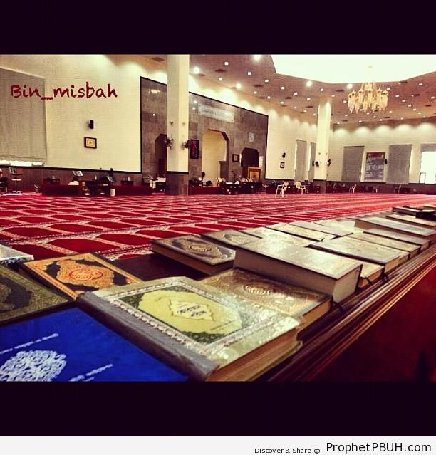 Books of Quran at Masjid Mala Murshid Sulaiman in Kuwait City - Ar-Rawdah, Kuwait City, Kuwait