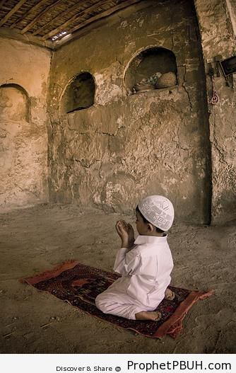 Boy Making Dua - Photos