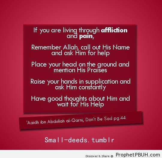 Call out His Name - Aaidh ibn Abdullah al-Qarni Quotes