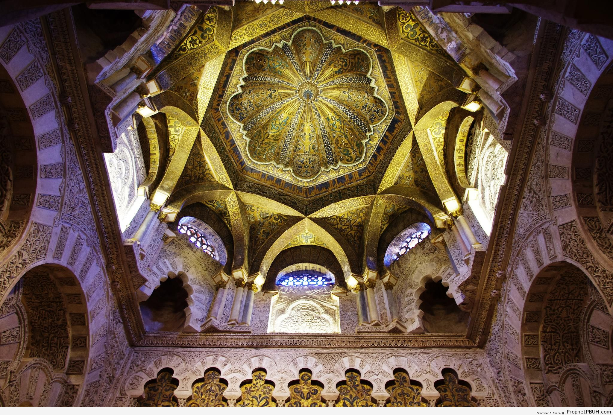 Ceiling of The Great Mosque of Córdoba (Qurtubah) in Andalusia, Spain - Andalusia, Spain -Picture