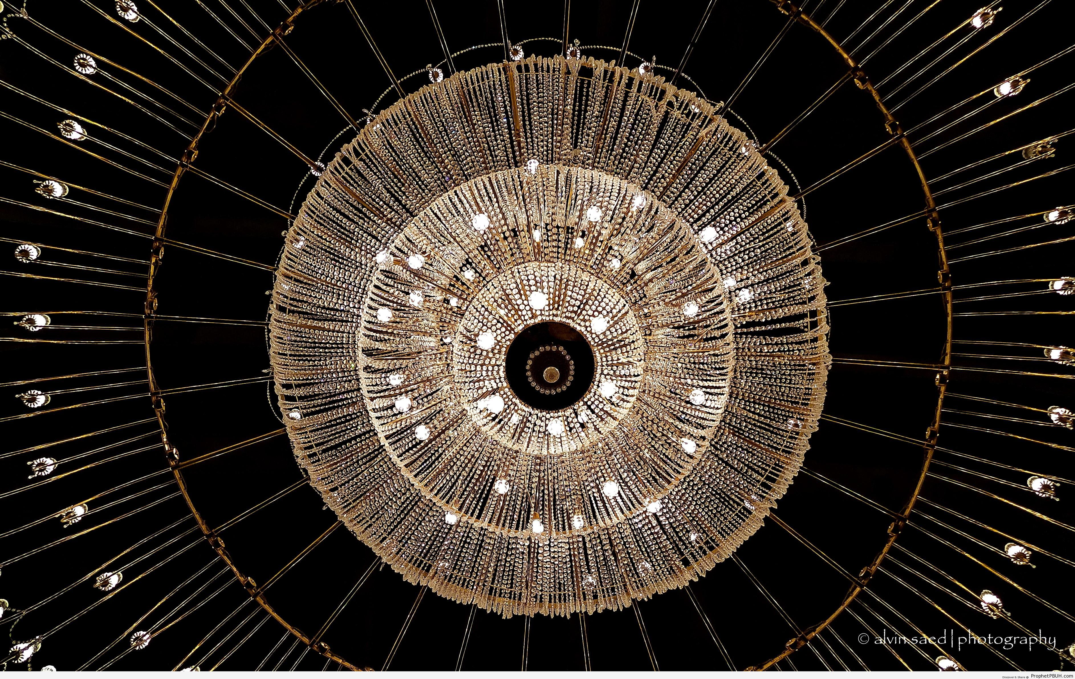 Chandelier at the Mosque of Aisha (RA) in Makkah, Saudi Arabia - Artist- Alvin A. Saed -Picture