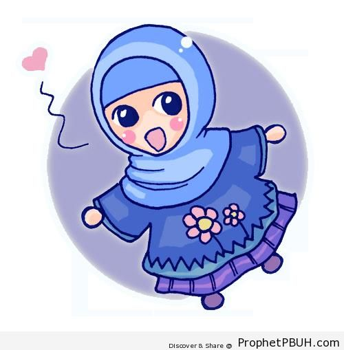 Cute Little Chibi Girl Chibi Hijabi Little Girl