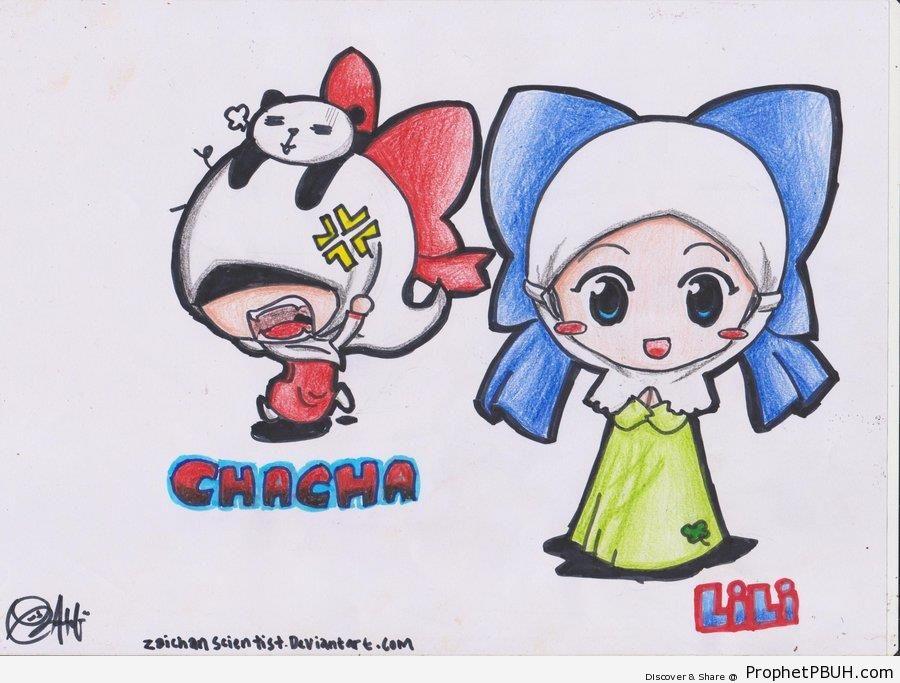 Chibi Hijabi Muslim Woman - Chibi Drawings (Cute Muslim Characters)