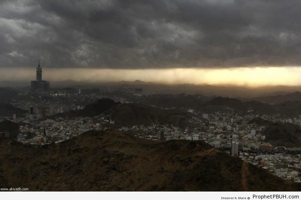 Clouds Above the City of Makkah - Makkah (Mecca), Saudi Arabia