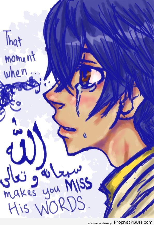 Crying Muslim - Drawings