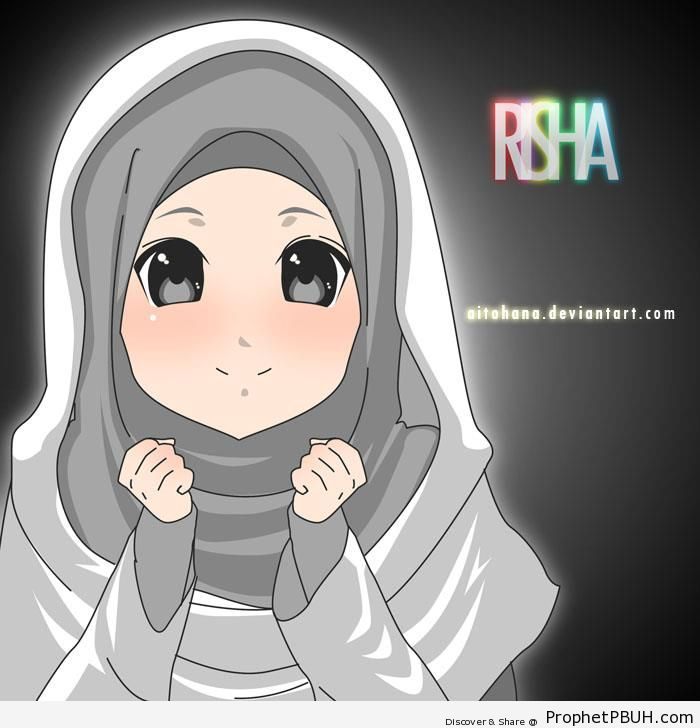 Cute Muslim Child - Drawings