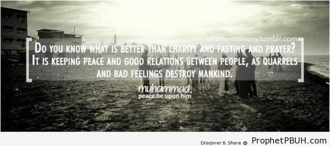 Do you know what is better than charity - Hadith