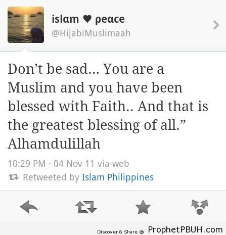 Don-t Be Sad (Tweet Screenshot) - Islamic Quotes About God's Kindness and Mercy