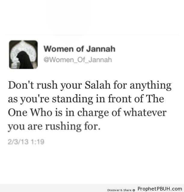 Don-t Rush Your Salah - Islamic Quotes