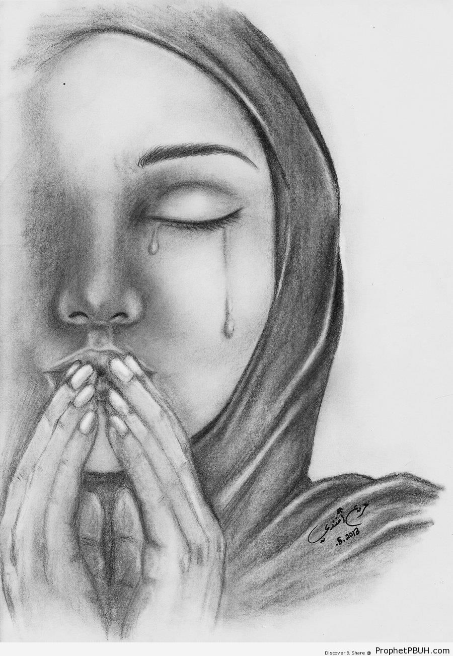 Dua and Tears - Drawings -Pictures