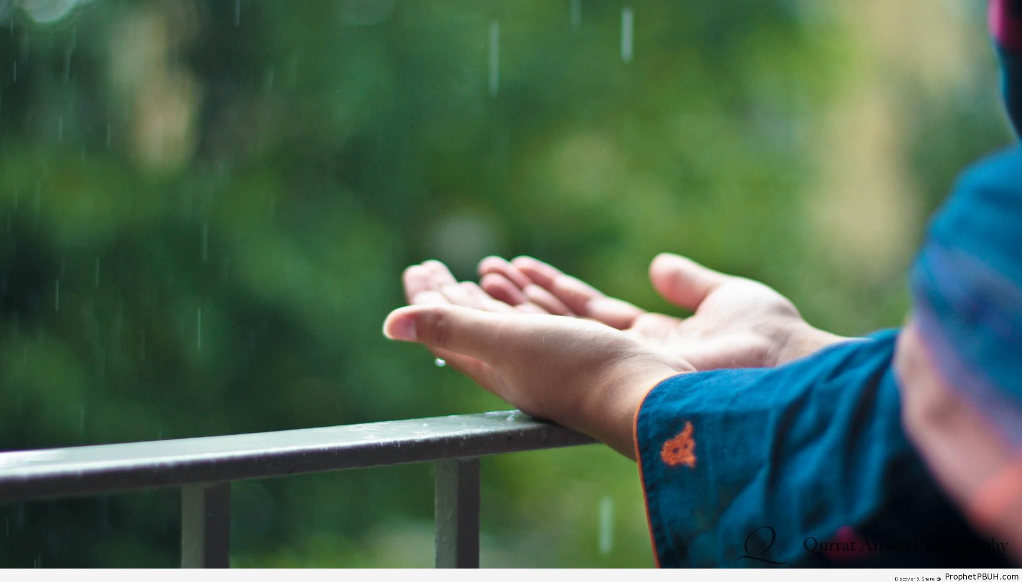 Dua in the Rain - Photos of Hands -Pictures