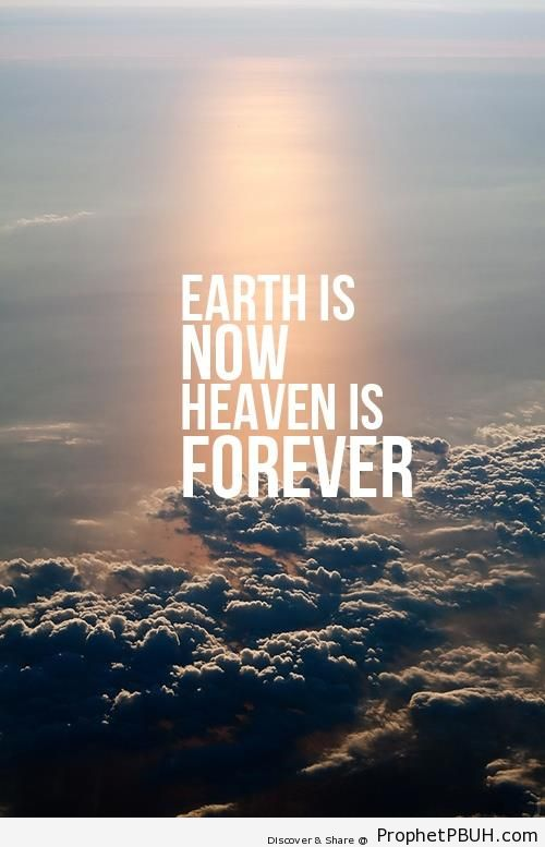Earth is Now - Islamic Quotes