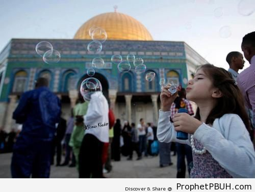 Eid Celebrations at the Dome of the Rock Mosque (August 19, 2012) - Al-Quds (Jerusalem), Palestine