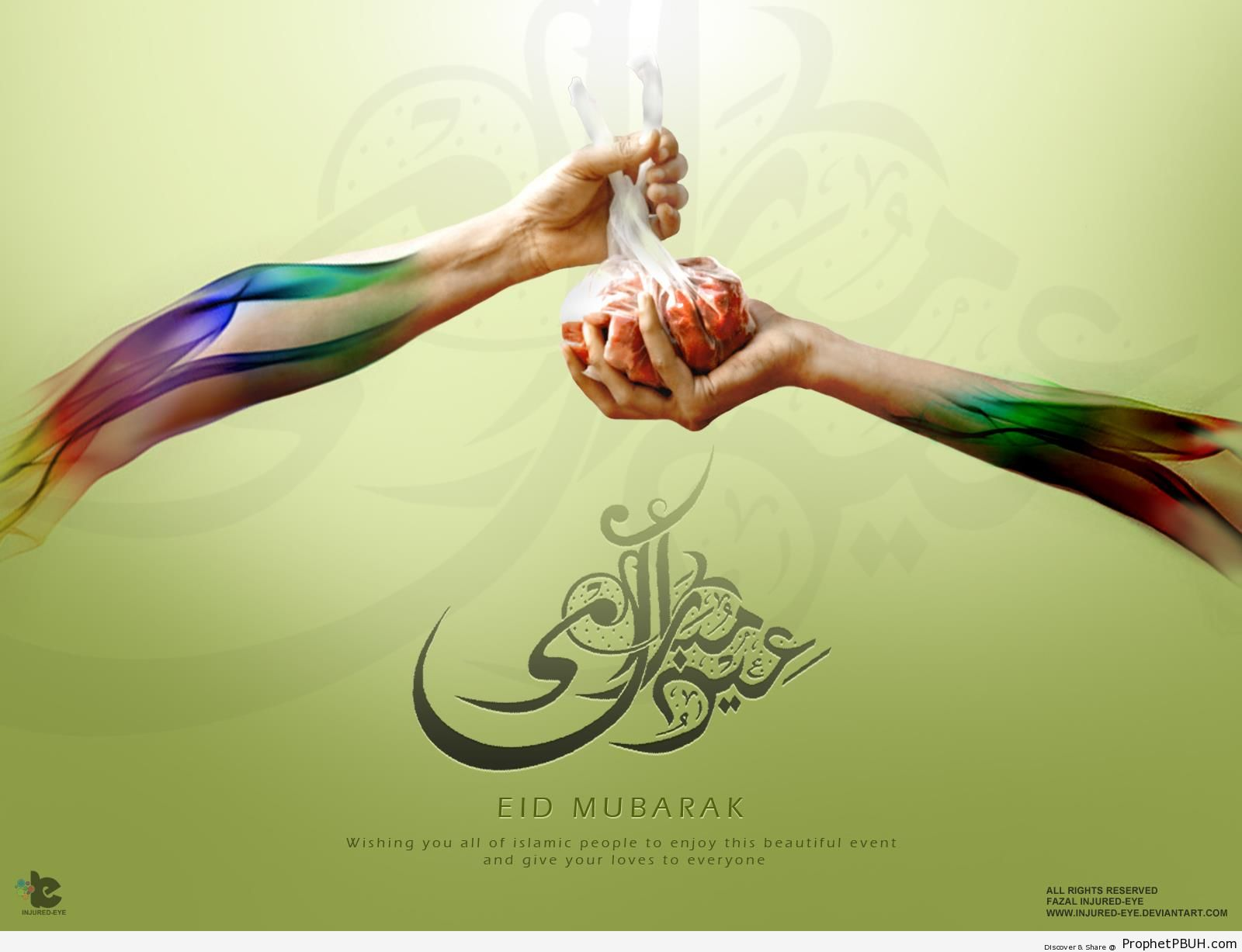 Eid Mubarak Wallpaper (1600 x 1200) - Eid Mubarak Greeting Cards, Graphics, and Wallpapers -
