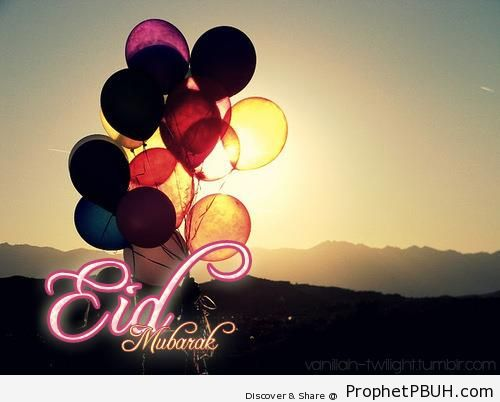 Eid Mubarak on Sunset Photo - Eid Mubarak Greeting Cards, Graphics, and Wallpapers