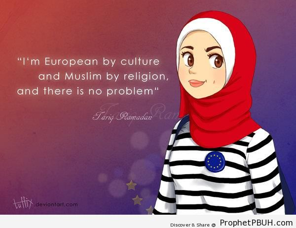 Euro Muslim Girl - Drawings