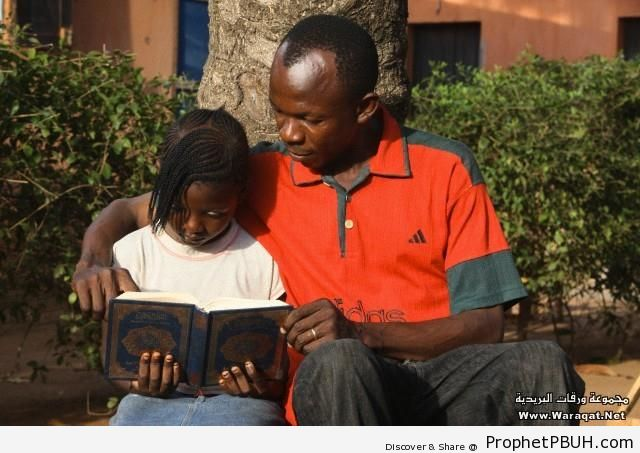 Father and Daughter - Mushaf Photos (Books of Quran)