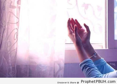 Female Arm Raised in Dua - Photos