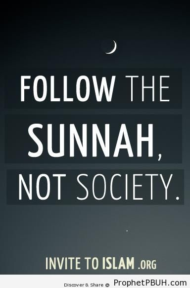 Follow the Sunnah not Society - -Follow the Prophet- Posters