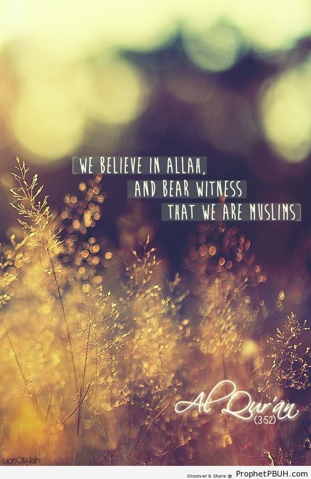 Followers of Jesus in the Quran - Quran 3-52