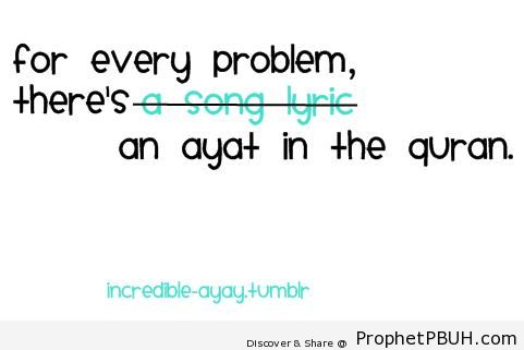 For every problem - Islamic Quotes