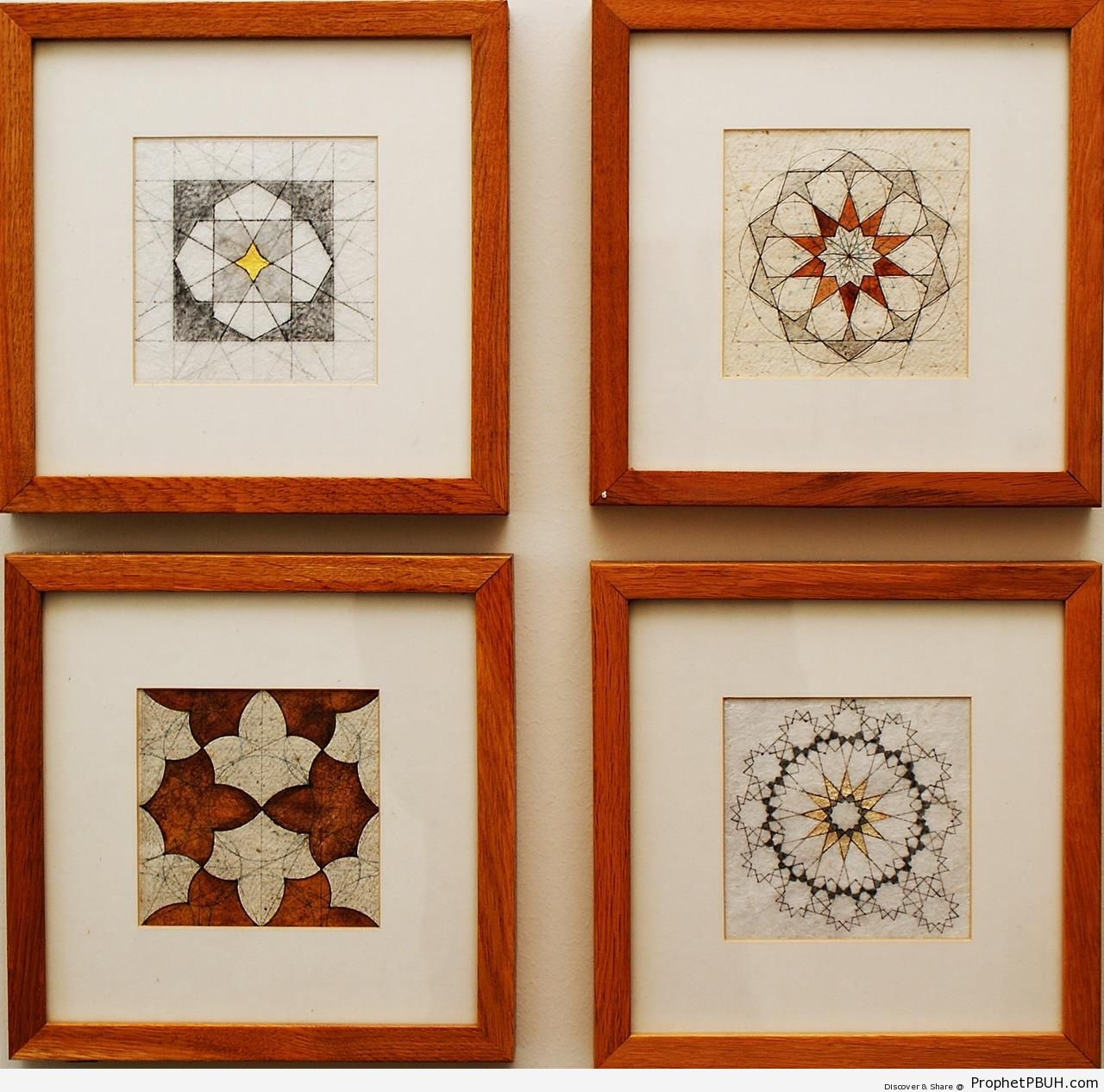 Four Islamic Geometric Designs - Islamic Geometric Designs -