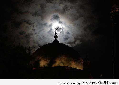 Full Moon Behind Minaret at Muhammad Ali Pasha Mosque in Cairo, Egypt - Cairo, Egypt