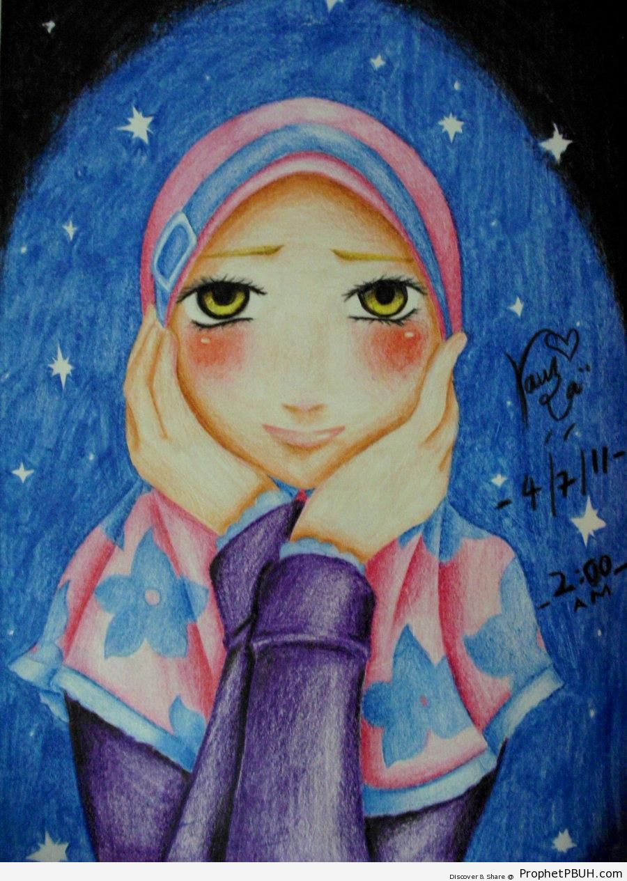 Girl Under the Stars - Drawings