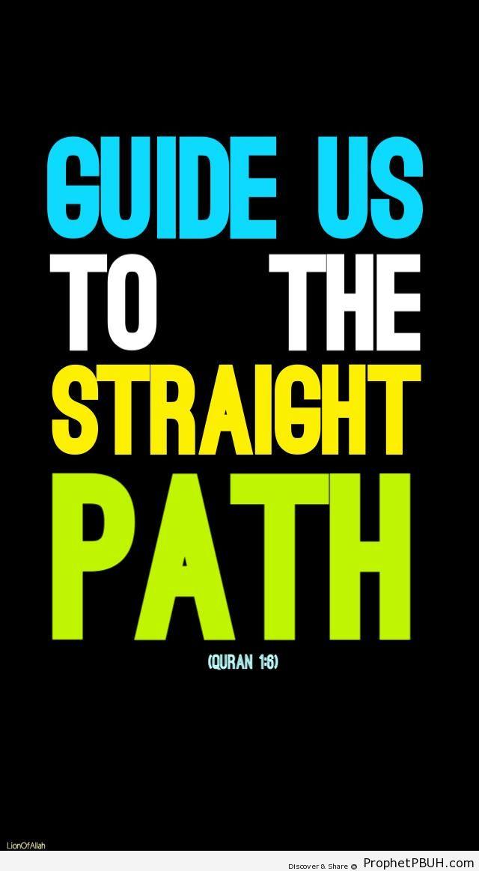 Guide Us (Quran 1-6 - Surat al-Fatihah) - Dua