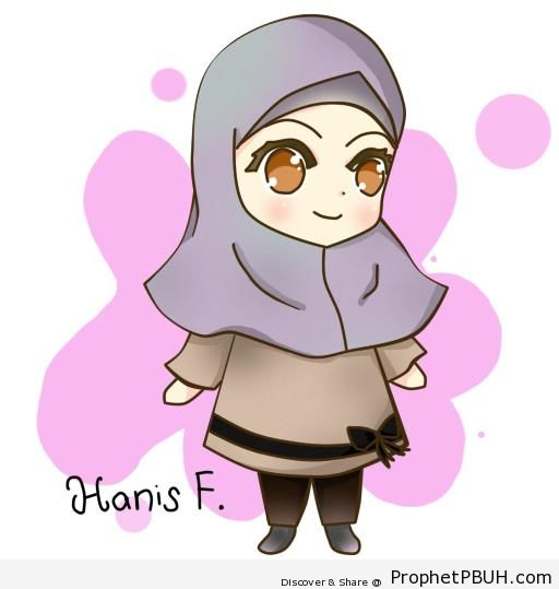 Happy Chibi Muslim Girl – Chibi Drawings (Cute Muslim ...