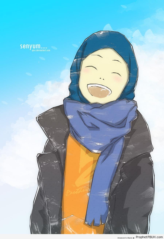 Happy Muslimah - Drawings -006
